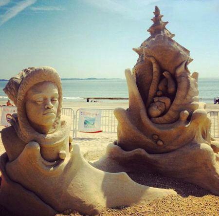 مجسمه هایی زیبا از جنس شن + عکس