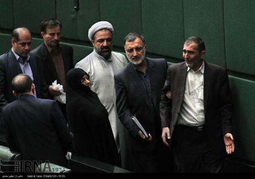عکس/ گریه زارعی در مجلس