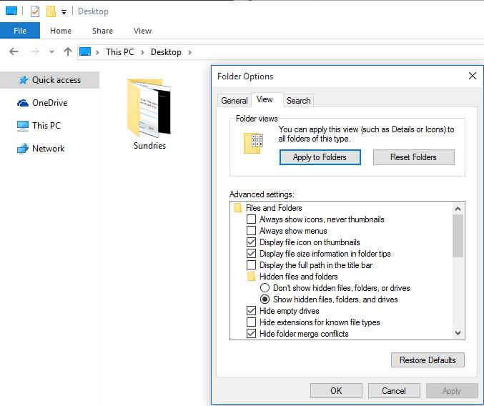 فولدرهای مخفی با چاشنی عدم دسترسی بسازید + آموزش تصویری