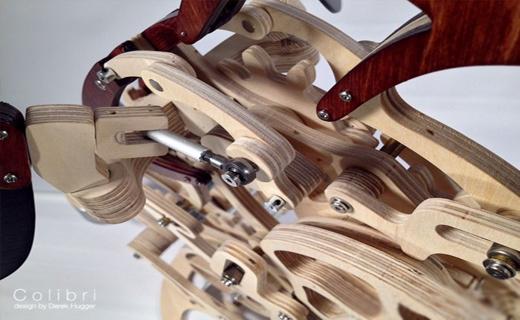 خلق پرنده چوبی با الهام از طبیعت+ تصاویر