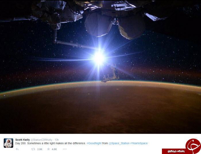 اسکات کلی و تصاویری از ناسا