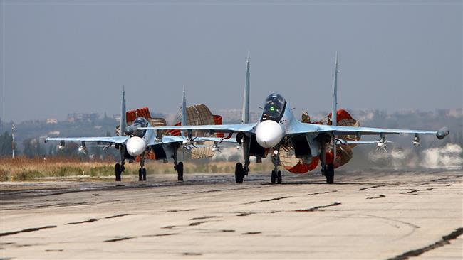 روسیه: بیش از 450 بار مواضع تروریستها را در هم کوبیدیم