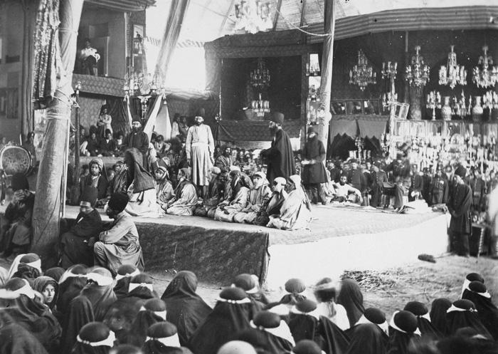 مراسم تعزیه خوانی دوران قاجار + عکس