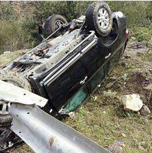 حسام نواب صفوی تصادف کرد