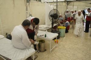 تصاویری از امدادرسانی به حادثه دیدگان رمی جمرات