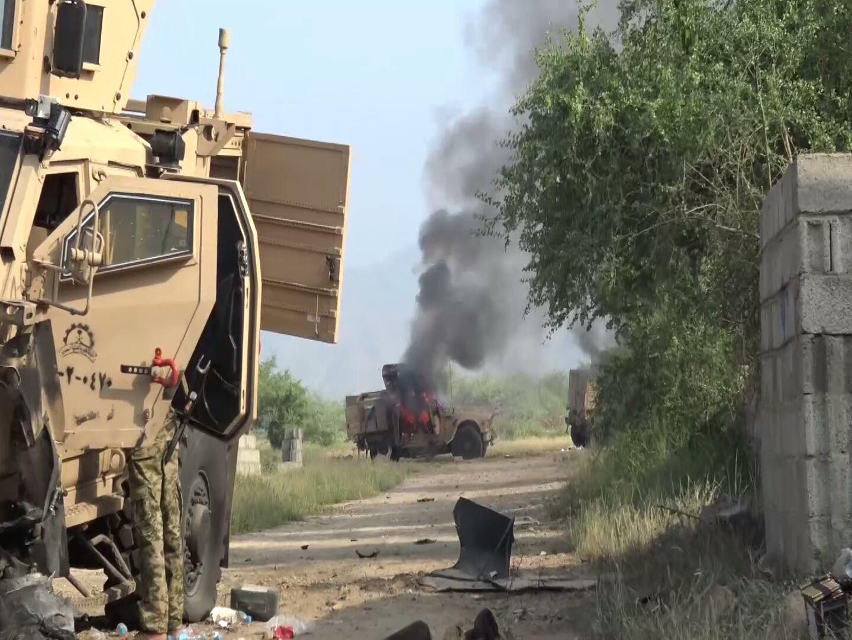 انهدام تانک های سعودی بدست نیروهای یمنی + تصاویر
