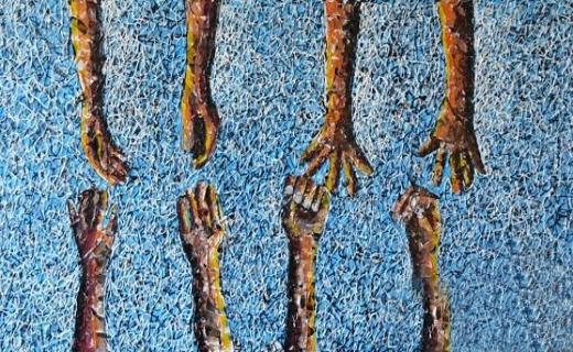 آثاری بی نظیر از نقاشی با ضایعات پلاستیکی+ تصاویر