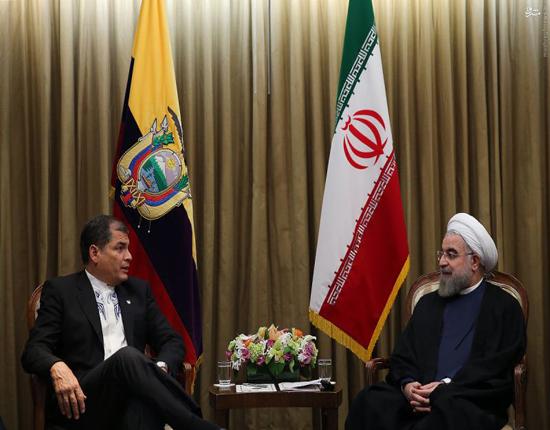 توهین رئیس جمهور اکوادور به حسن روحانی +عکس