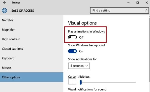انیمیشن های ویندوز 10 را غیر فعال کنید + آموزش تصویری