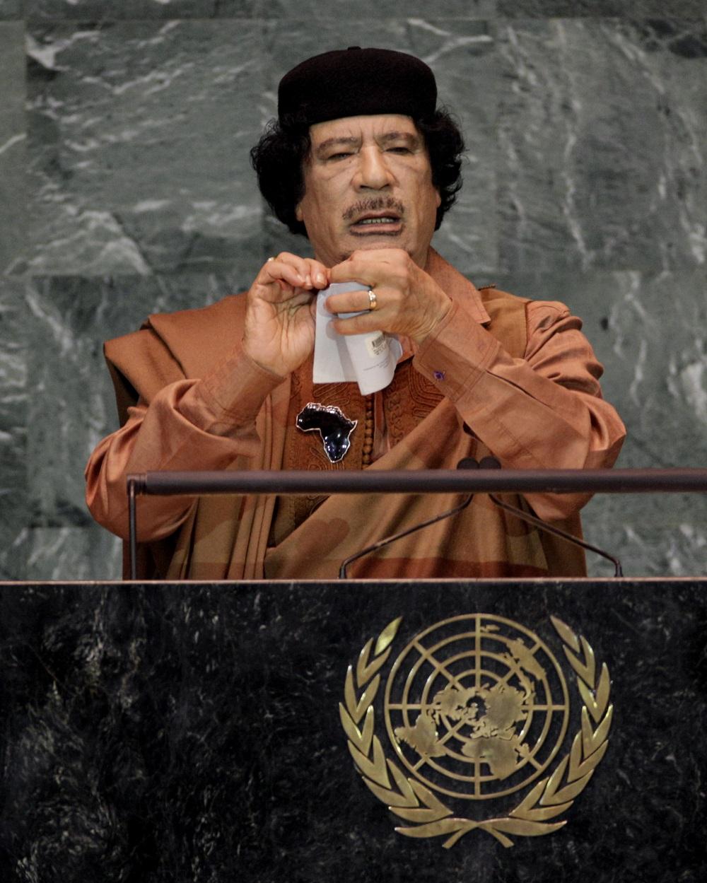 لحظات بیادماندنی مجمع عمومی سازمان ملل: از خشم قذافی تا خطکشی کودکانه نتانیاهو+تصاویر