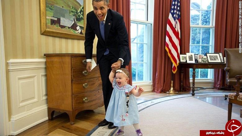 کودک درون اوباما بیرون زد+ عکس