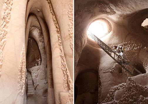 این مرد برای خلق شاهکار هنریاش بهتنهایی ده سال دیوارهای غاری را تراشیده است! + تصاویر