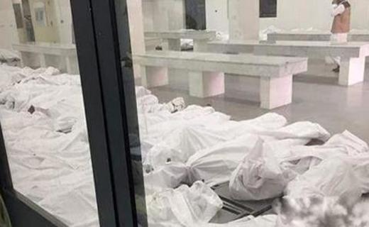 تصاویری از وضع نامطلوب سردخانه محل نگهداری اجساد قربانیان منا