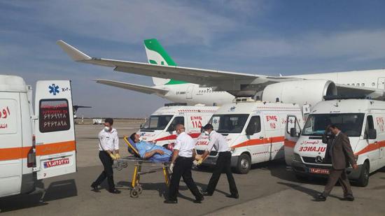 7 تن از حجاج مجروح وارد کشور شدند/ انتقال 5 تن از مجروحان حادثه منا به بیمارستان + عکس