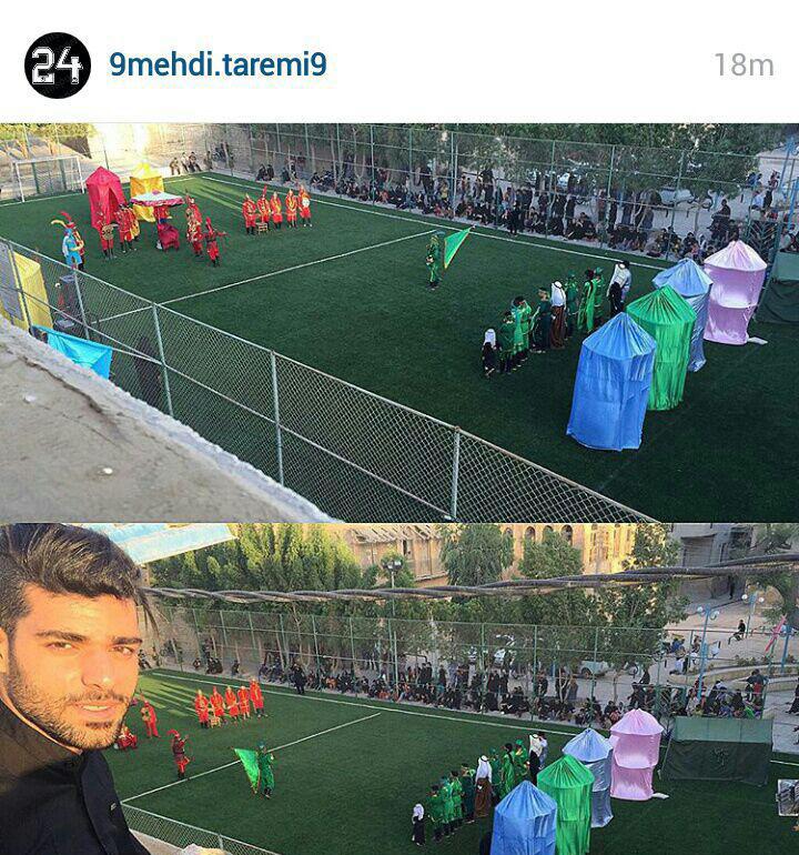 چهره های ورزشی در مراسم تاسوعای حسینی