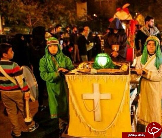 دسته عزاداری مسیحیان در تهران+ عکس