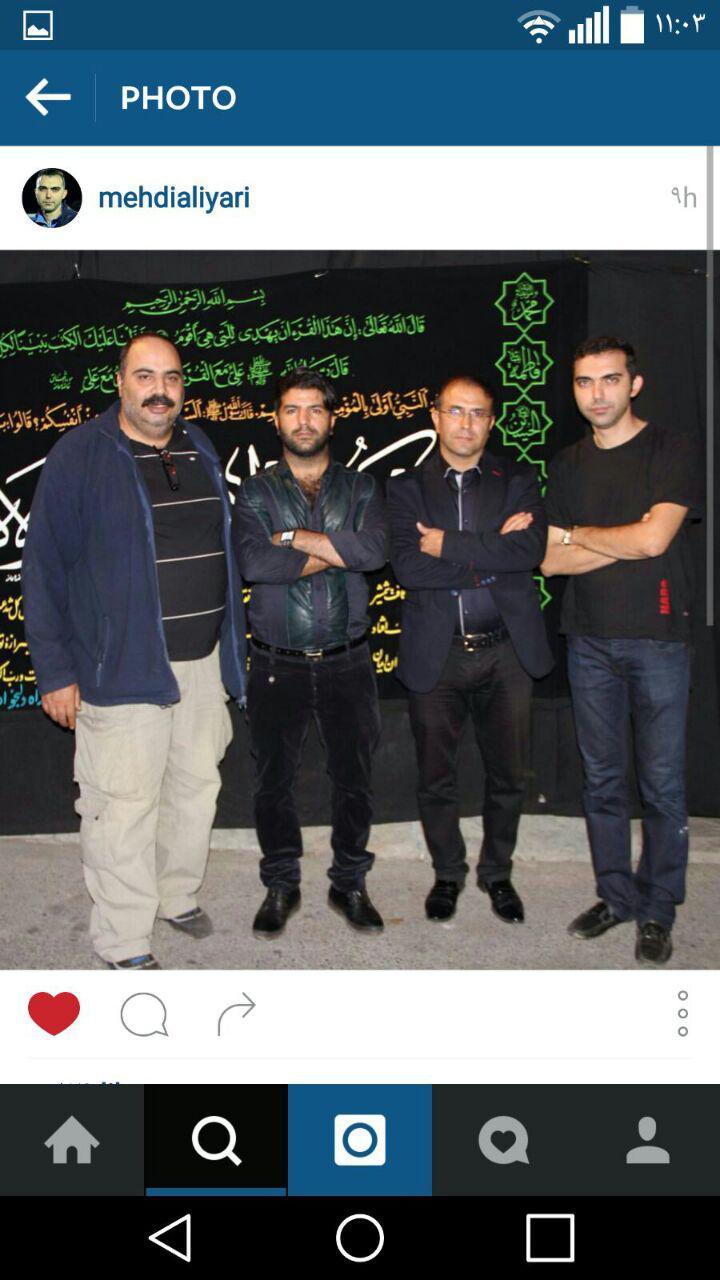 چهره های ورزشی در مراسم عزای حسینی + عکس