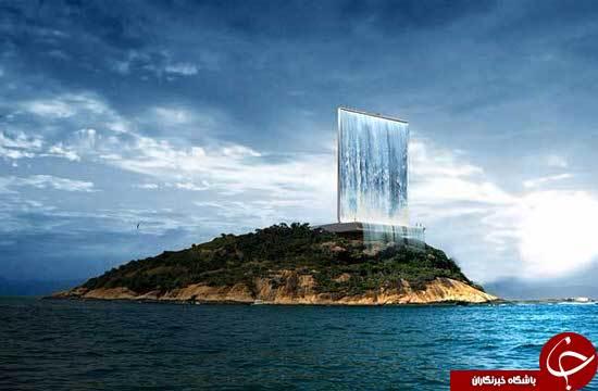 آبشار معلق در هوا +تصاویر