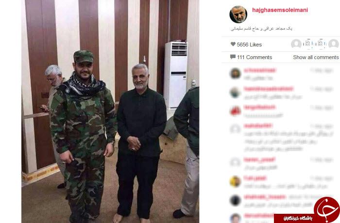 سردار سلیمانی و مجاهد عراقی+ عکس