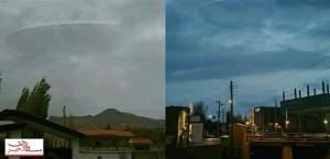 بشقاب پرنده فضایی وارد آسمان اردبیل شد+عکس