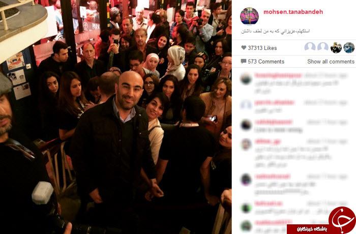 سلفی محسن تنابنده با مردم استکهلم! + عکس