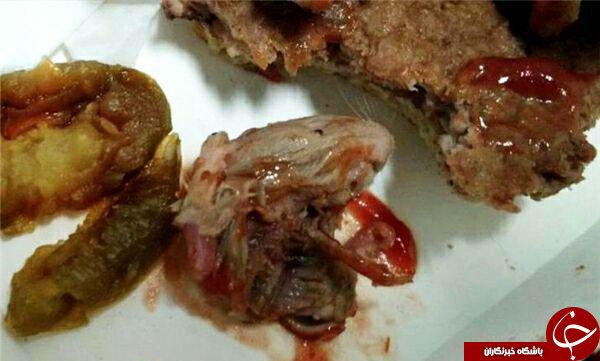 کله موش در غذای مک دونالد+عکس