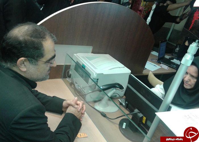 وزیر بهداشت خون اهدا کرد + تصاویر