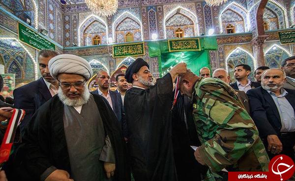 تقدیر از ابو عزرائیل در حرم امام حسین (ع) + تصاویر