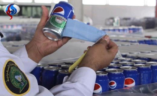 مشروب الکلی با پوشش نوشابه در عربستان + عکس