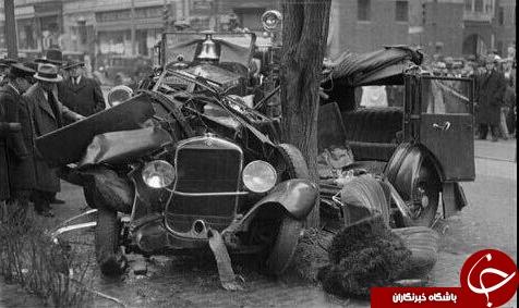 اولین تصادف تاریخ +عکس