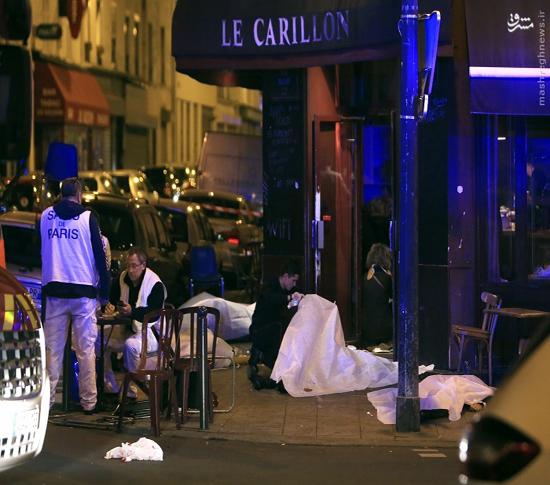 عکس/ جنازه کشته شدگان انفجار پاریس