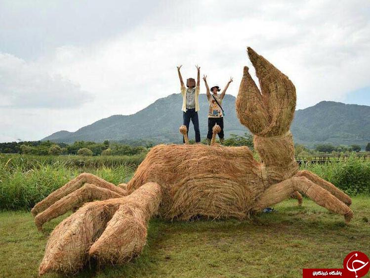 مجسمه های جالب کاهی در چین + عکس