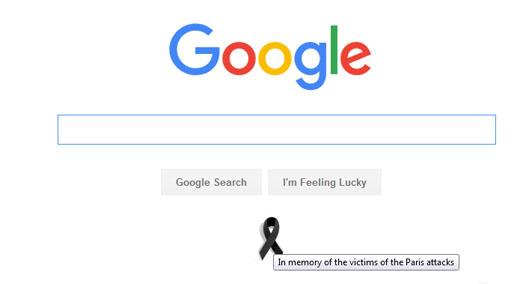 گوگل هم عزادار پاریس شد +عکس