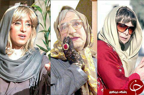 امیر حسین رستمی، مهران رجبی و سپند امیر سلیمانی در لباس زنانه! + عکس