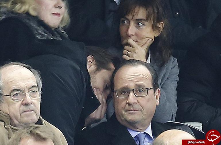 لحظه با خبر شدن رئیس جمهور فرانسه از حادثه+ عکس