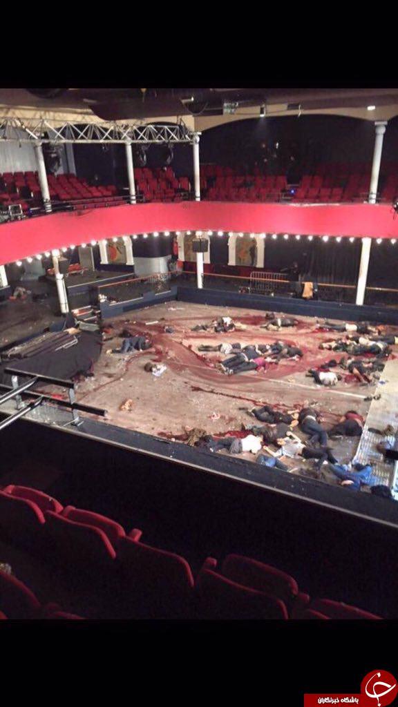 سالن کنسرت پاریس لحظاتی بعد از گروگانگیری+ عکس