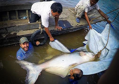 صید ماهی عظیمالجثهی نادر + تصاویر