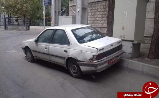 خودروی رها شده دولتی در خیابان + تصویر
