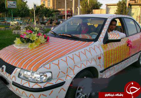 تزئین ماشین عروس باکارت شارژدرایران +عکس