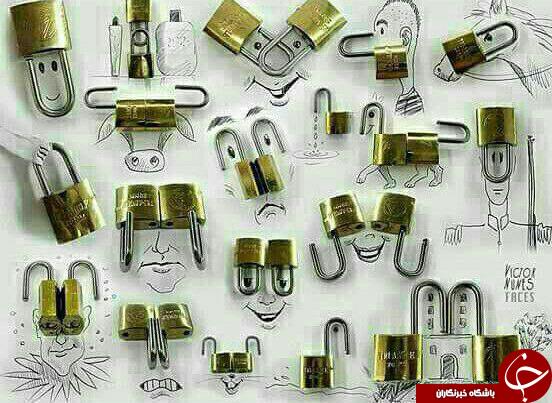 طراحی های جالب با قفل