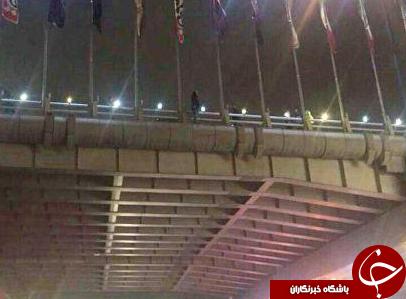 خودکشی دختر جوان از بالای پل شیخ فضل الله + عکس