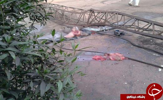 یک کشته و یک مجروح در پی سقوط بوم جرثقیل 105 تنی (تصاویر +18)