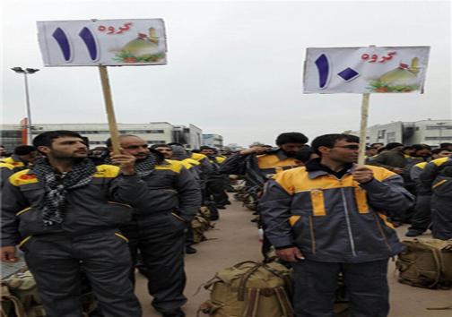 مراسم بدرقه 900 خادم اربعین به عتبات +عکس