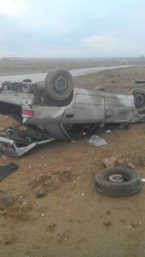 خوششانسی ملیپوشان ایران در سانحه رانندگی + تصاویر
