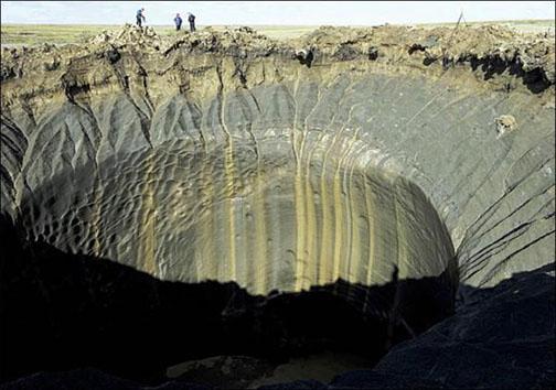 راز شکاف بزرگ اخیر زمین در منطقه سیبری +تصاویر