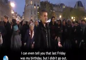 حرکت جالب یک مسلمان فرانسوی در پاریس + فیلم