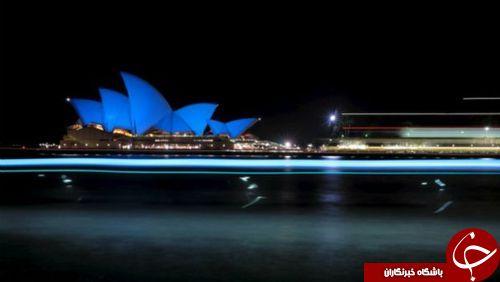 آبی شدن به مناسبت 70 مین سالگرد تاسیس سازمان ملل + تصاویر