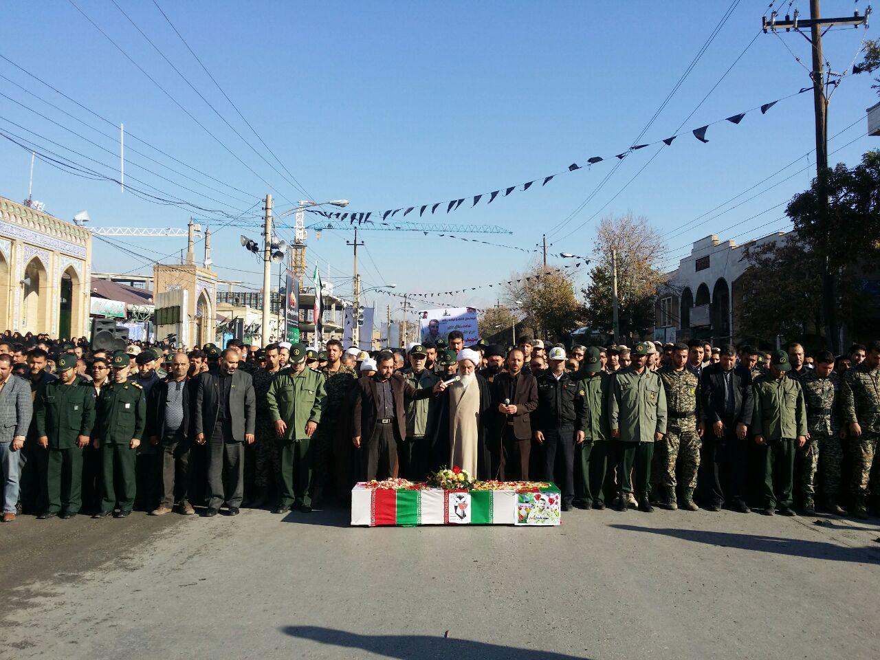 مراسم تشییع شهید حرم زینب (س) ستار عباسی