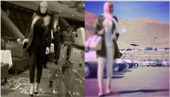 مانور مانکن های مبتذل در خیابانهای تهران +عکس
