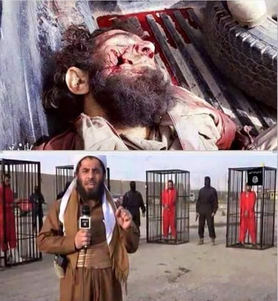 گلوله وسط صورت مجری جلاد داعشی + عکس